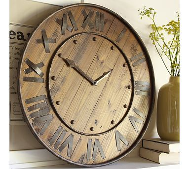 found my dream wall clock after 2 years of looking rustic wood u0026 iron clock