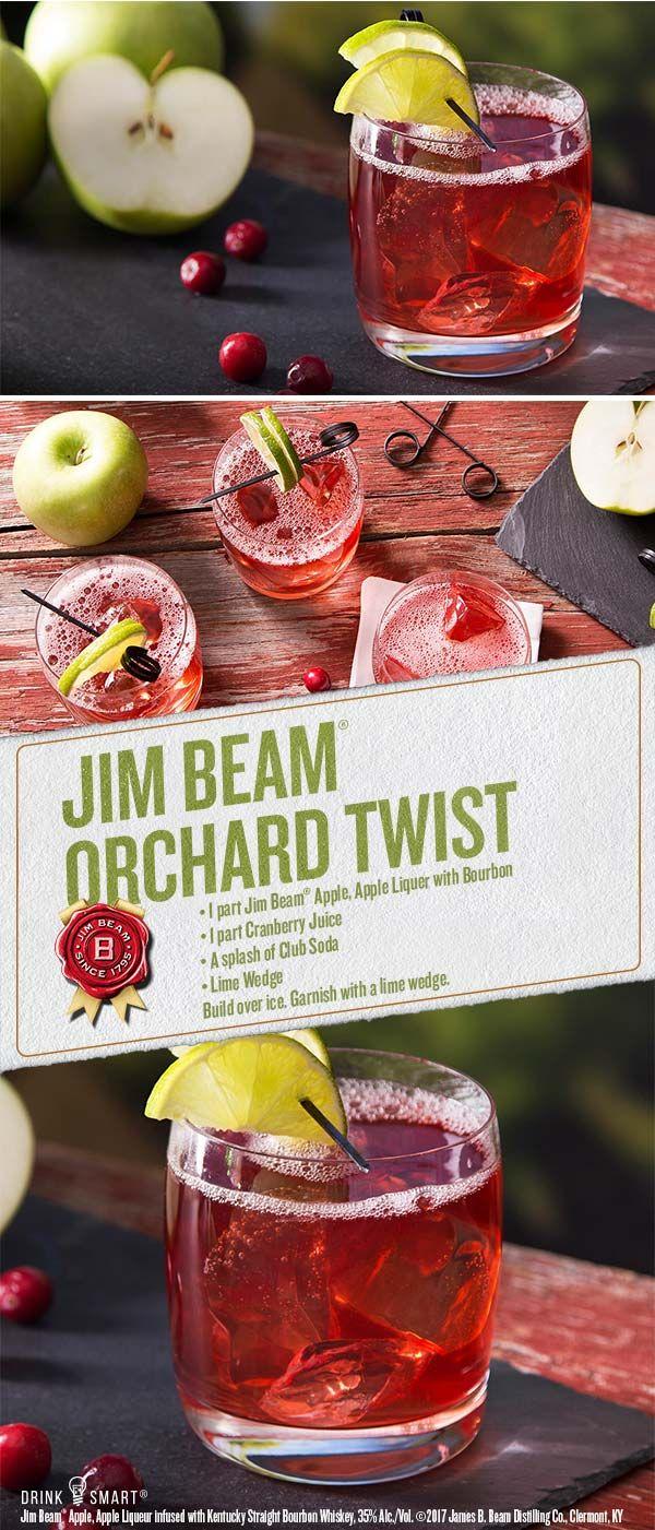 Beam Orchard Twist Recipe Bourbon Mixed Drink Recipe Jim Beam Cocktails Recipe Bourbon Mixed Drink Recipes Apple Drinks Bourbon Mixed Drinks
