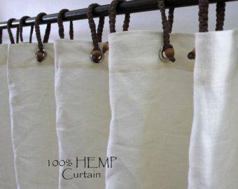 Organic Hemp Shower Curtain Full Size Curtains Fabric Shower
