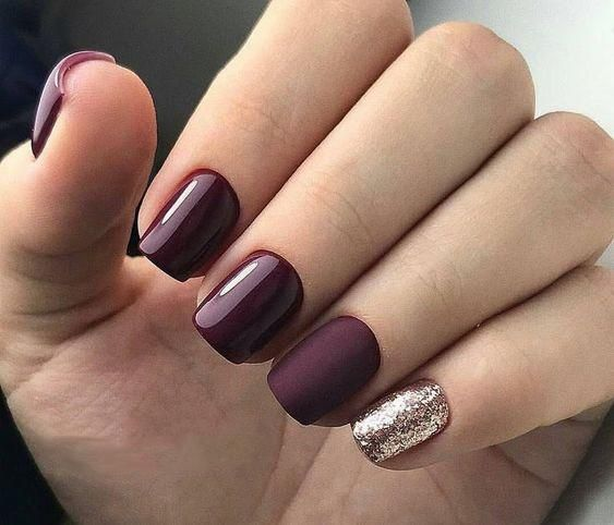 55 Trendy Manicure Ideas In Fall Nail Colors Burgundy Nails Trendy Nails Purple Nails