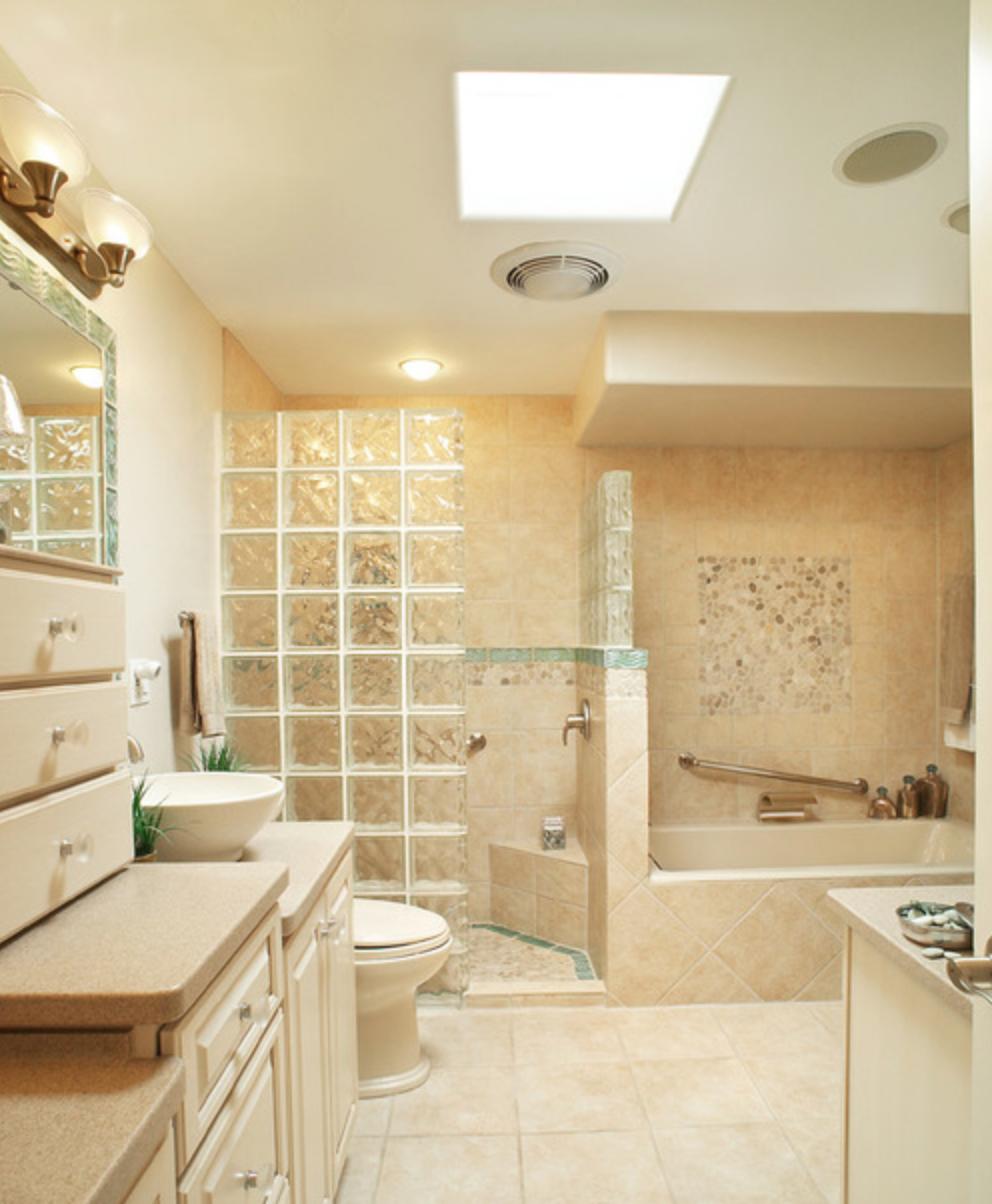 Walk-in Shower ~ Glass Blocks | Little House on the Prairie ...