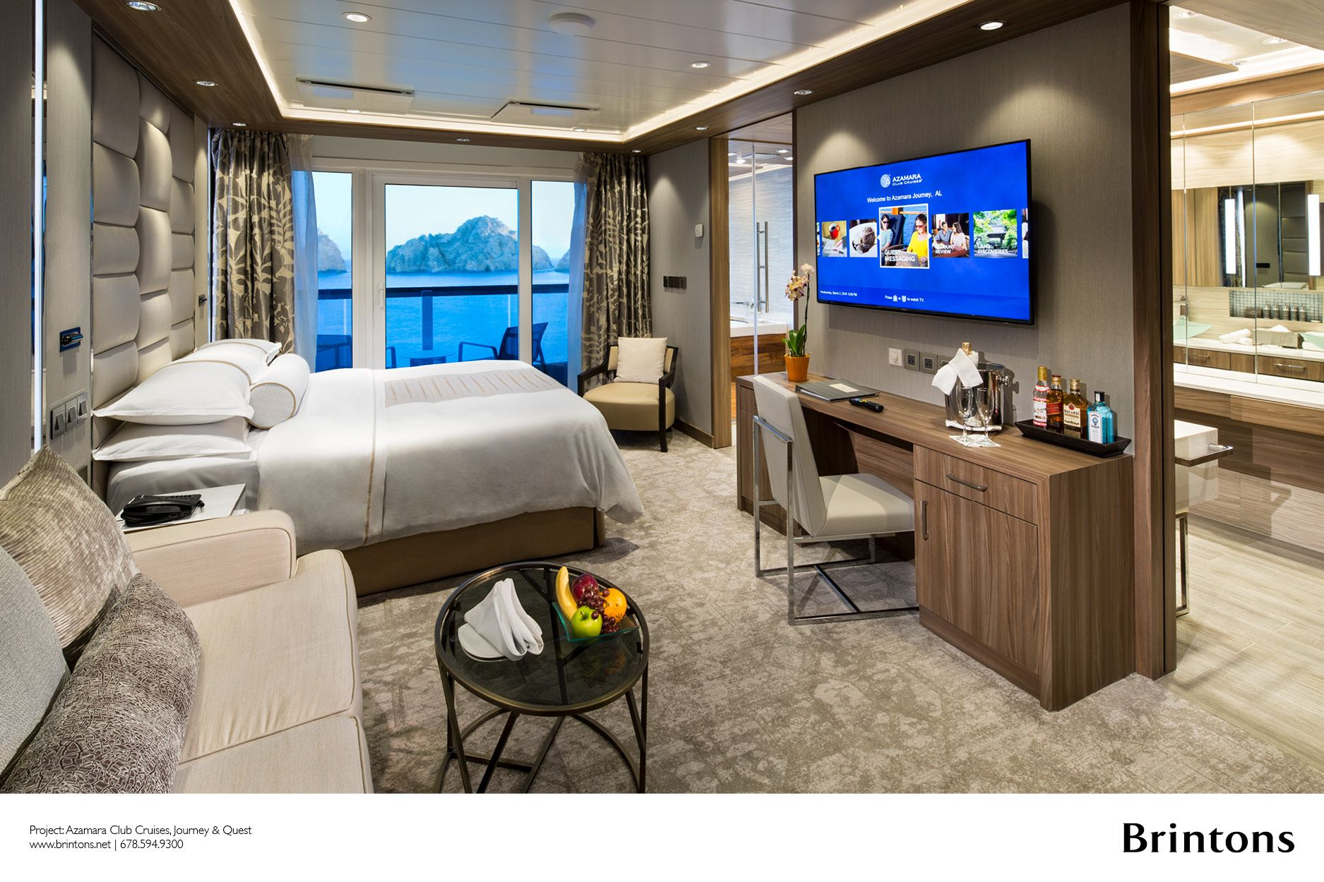 Brintons Was Specified To Create Just Over 22 000 Square Yards Of Custom Axminster Carpet For The Recent Refurbishment Of Th Azamara Suites Luxury Cruise Lines