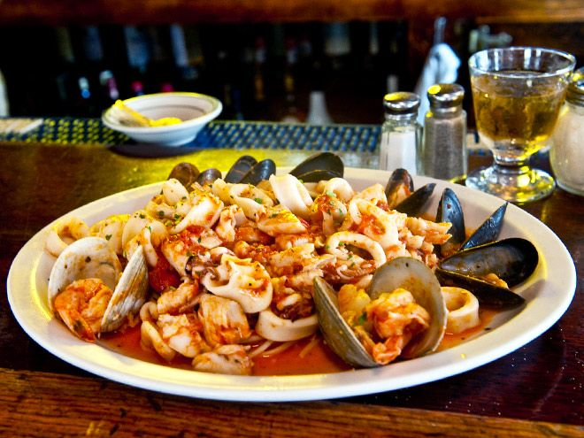 Seafood From Carmine S Italian Restaurant In Nyc