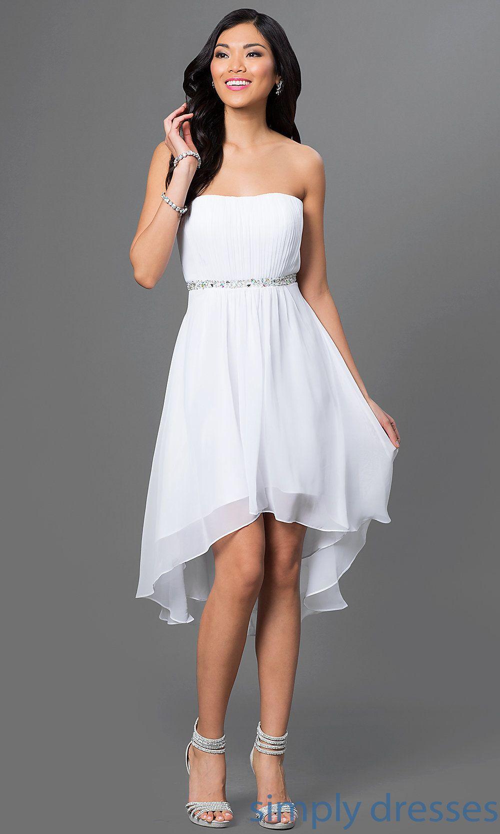 High low strapless dress dqw graduation ready