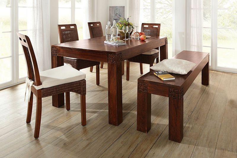 id e d co salle a manger table bois zen ethnique d co home pinterest table bois manger et. Black Bedroom Furniture Sets. Home Design Ideas