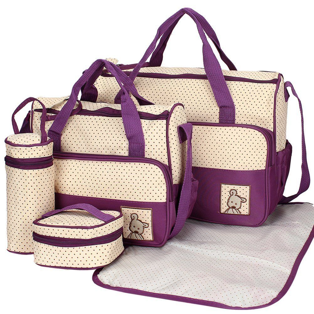 4 Mummy Totes Bags Baby Diaper Bags for Mom Nappy Changing Bags Set UK STOCK