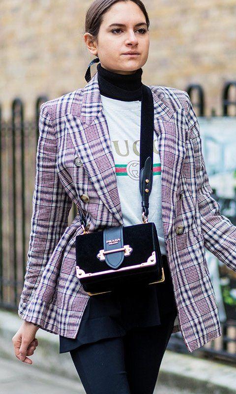 Семь стильных способов носить жакет в клетку этой осенью