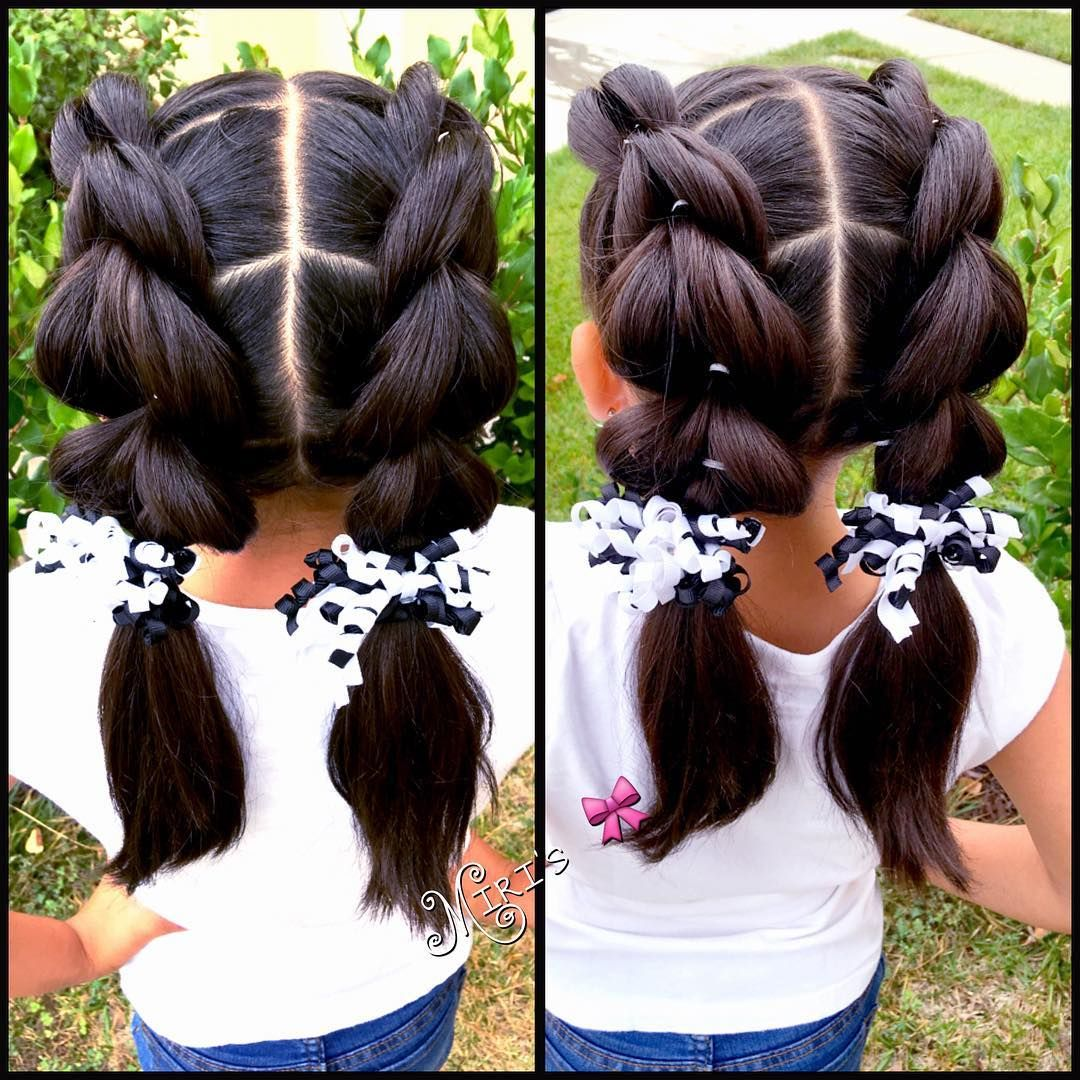 Today S Hair Style Pullthroughbraid Pullthroughbraid Inspired By Sweethearts Hair Design Sweetheart Lil Girl Hairstyles Girl Hair Dos Little Girl Hairstyles