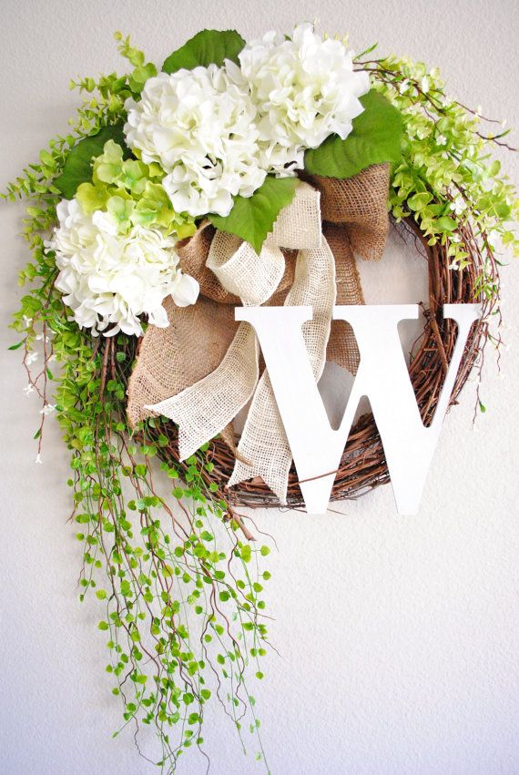 Wreaths In Decor Housewares Etsy Home Living With Images Spring Wreath