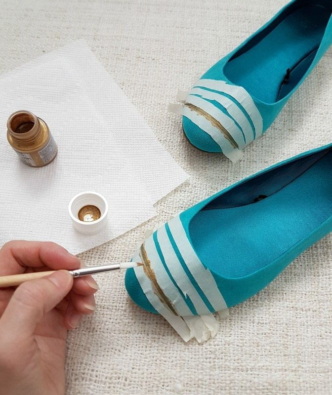 How to paint a pair of painted shoes. Show Your Stripes: How To Paint Your Shoes - Step 3