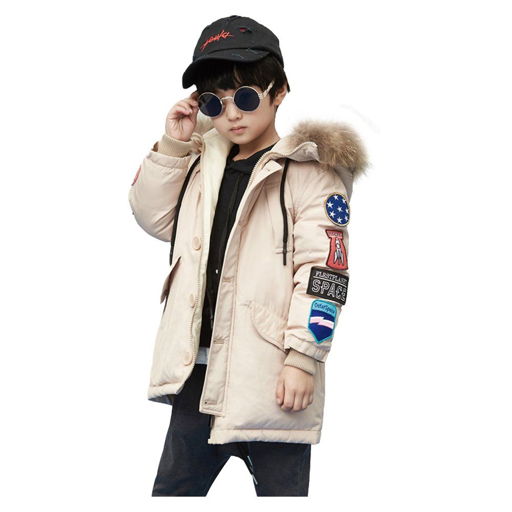 1c7757b6fb90 LSERVER Kids Boy Girl Oversize Grapheme Winter Warm Snow Parke ...
