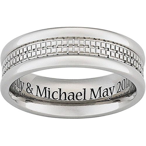 Engravable Mens Wedding Bands Engraved Wedding Bands Pinterest