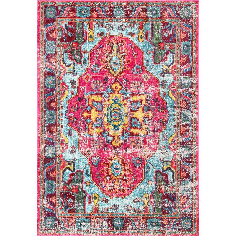 Bungalow Rose Loughlam Pink Area Rug Rug | Bungalow, Living room ...