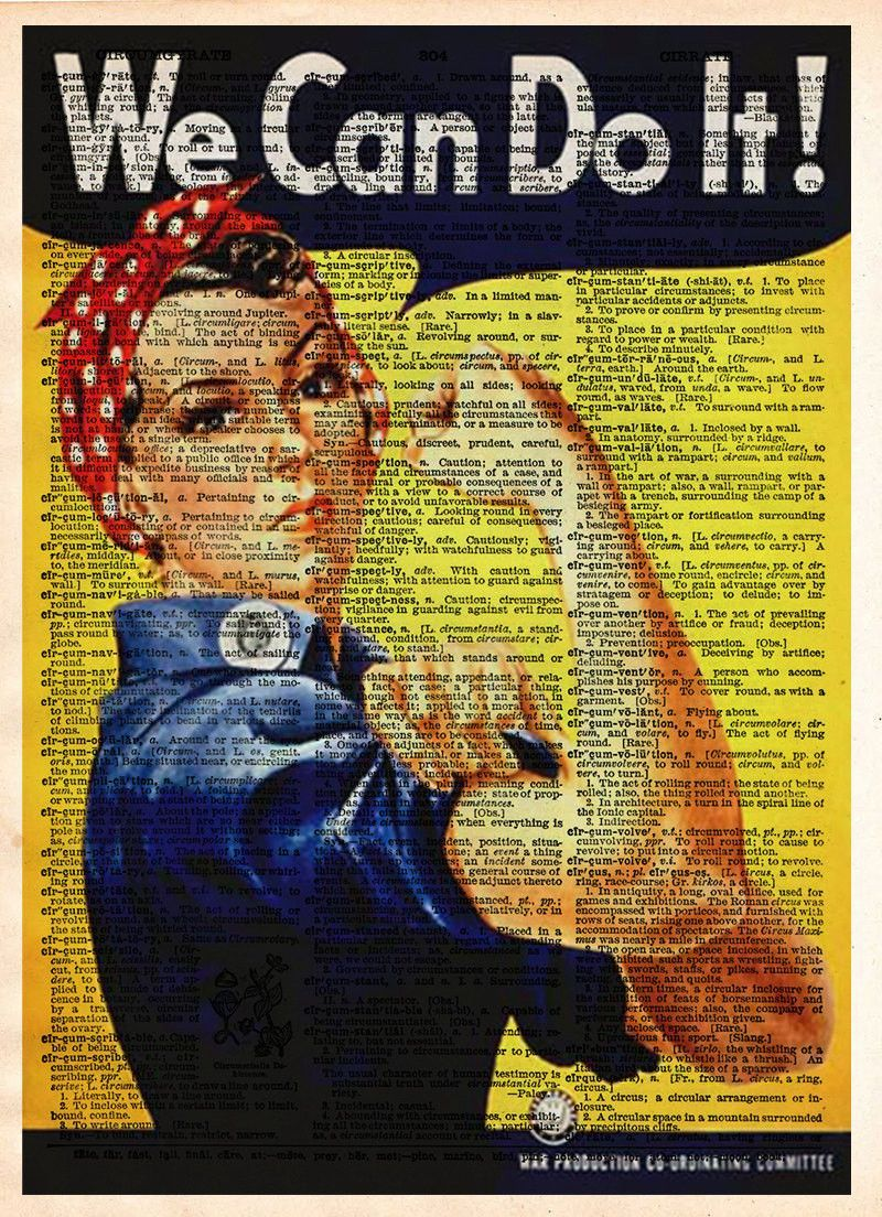 Rosie the Riveter, We Can Do It, WPA poster, vintage inspirational ...