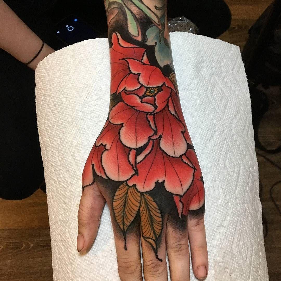 Hand Flower by grimgardyan at Grim Tattoo in Penndel