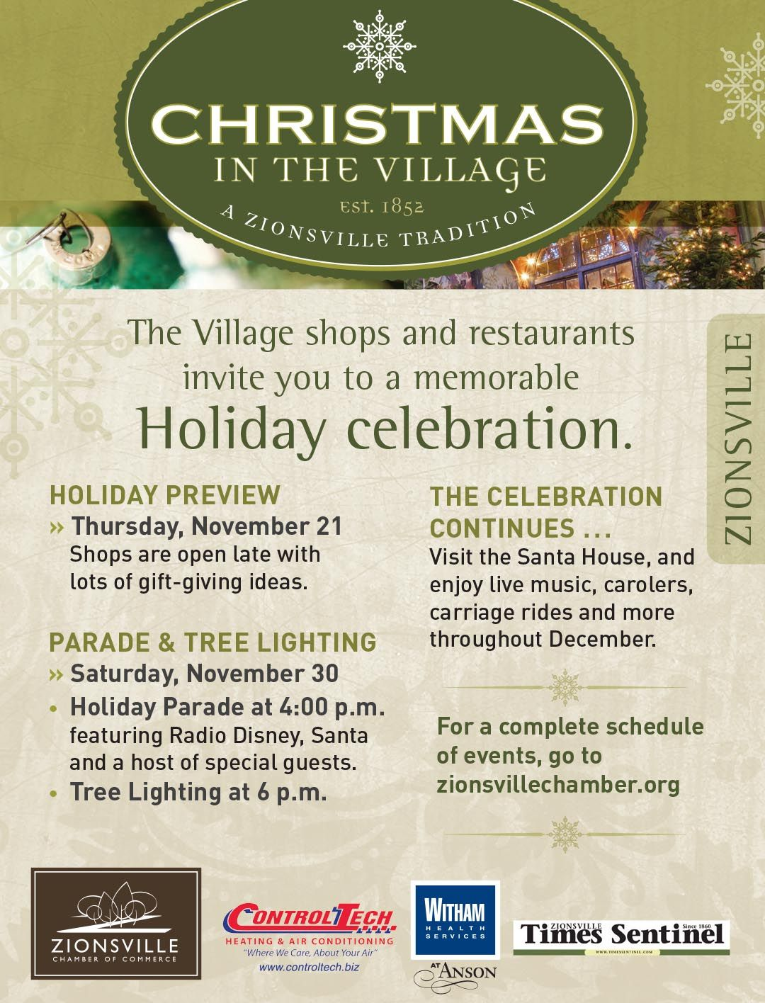 Christmas In The Village Zionsville Zionsville Village How To Memorize Things