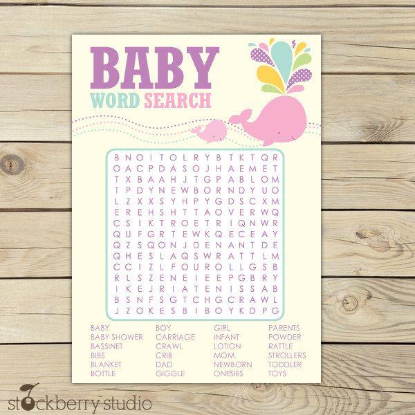Free Baby Shower Planner Template Baby Shower Word Scrambler Free