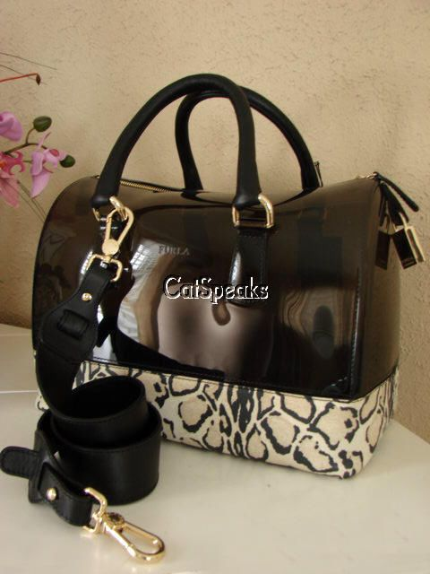 Nwt Authentic Furla Candy Bag W Leopard Leather Bottom Yx Made Italy
