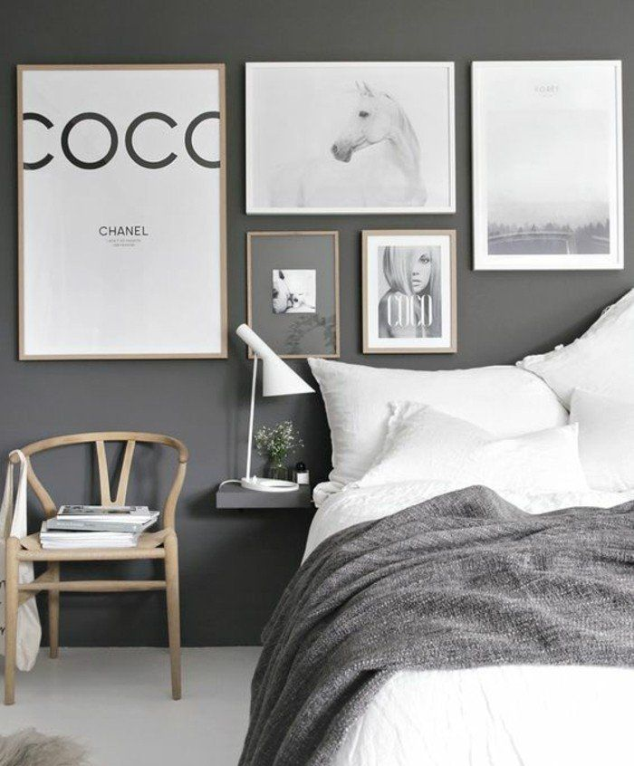 1001 id es pour une chambre scandinave styl e linge de lit blanc couleur gris anthracite et. Black Bedroom Furniture Sets. Home Design Ideas