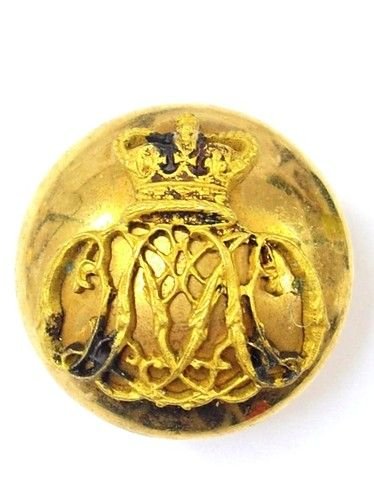 52nd (Oxfordshire) Foot original Large Victorian Officers Button