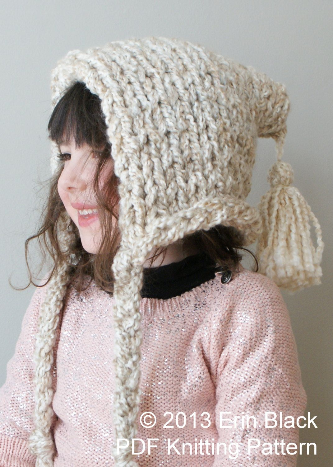 DIY Knitting PATTERN - Chunky Pixie Hat in Toddler, Child and Adult ...