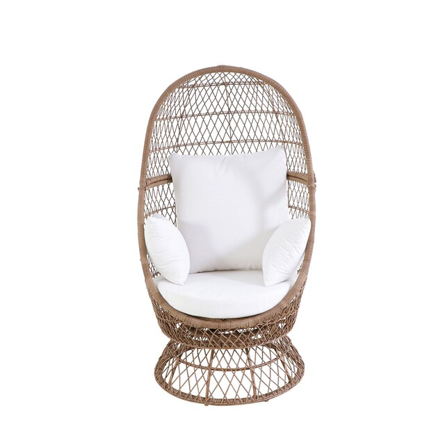 Sonoma Goods for Life® Blonde Wicker Swivel Egg Chair in