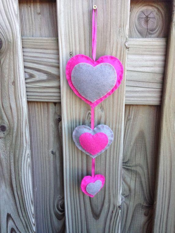 Hartjesslinger roze/grijs