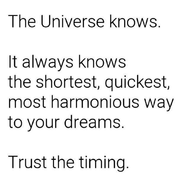 I Trust Universe Trust Divine Timing Life Love Quote