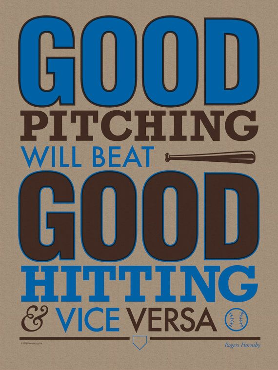 Now On Etsy Handmade Silkscreen Prints Of Iconic Baseball Themed Quotations Using Typographic Design Baseball Posters Baseball Quotes Baseball Room