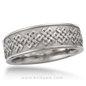 Tibetan Knot Eternity Wedding Band The Endless Is An Ropriate Symbol For Your Eternal Love In This Handcrafted Ring A Raised