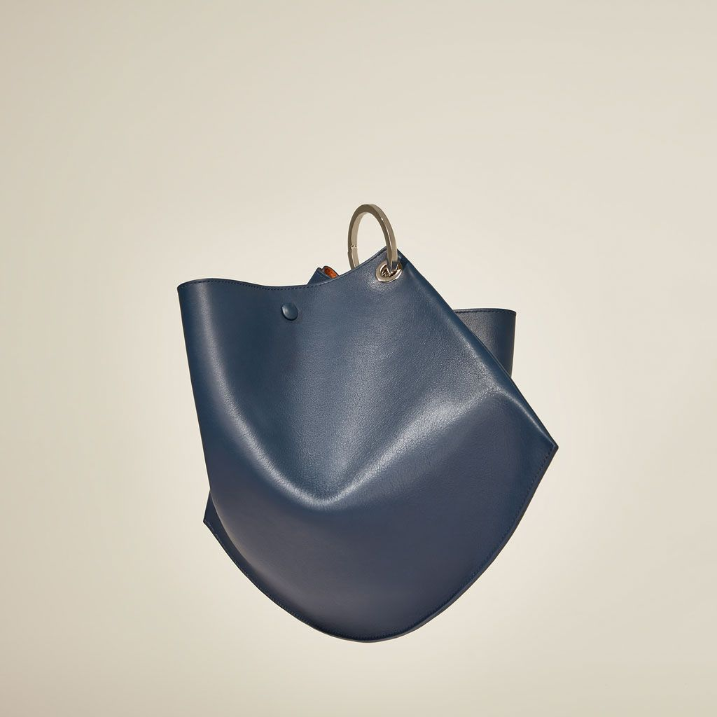 En Studio Femme Zara Avec Sacs Mini Soldes Xfqbwz1 Cuir Anneaux Sac OxA7w