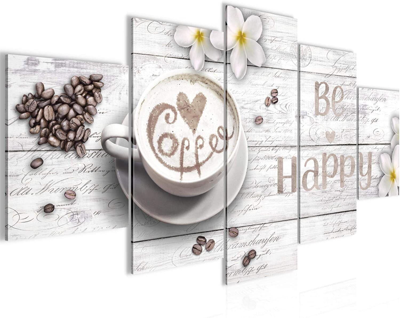 Bilder Küche Kaffee Wandbild Vlies Leinwand Bild Xxl Format Wandbilder Wohnzimmer Wohnung Deko Kunstdrucke Weiß 5 Te Wandbild Küche Bilder Schlafzimmer Weiß