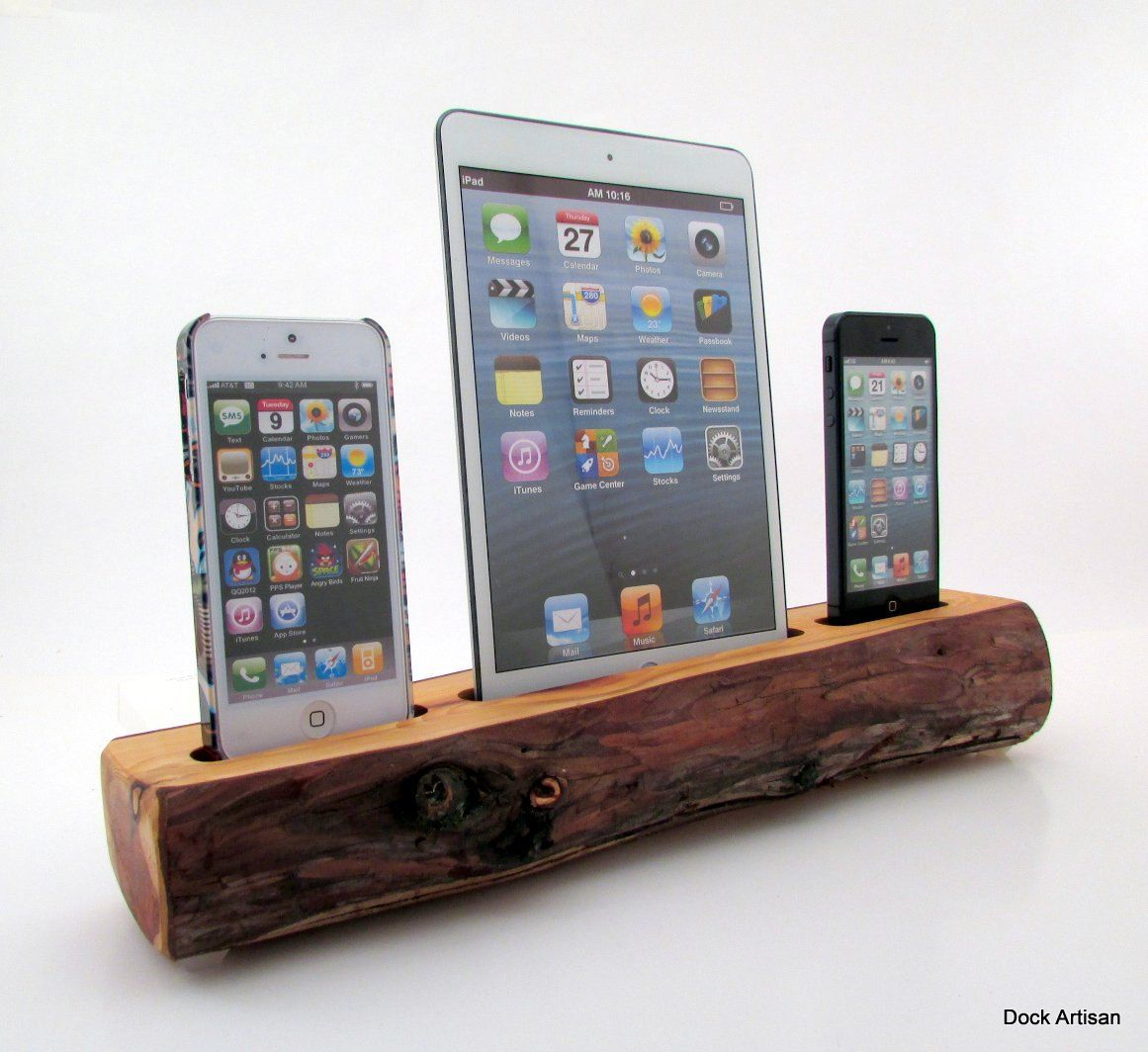 ipad iphone charging station mini and dual iphone 5 redwood station 6277