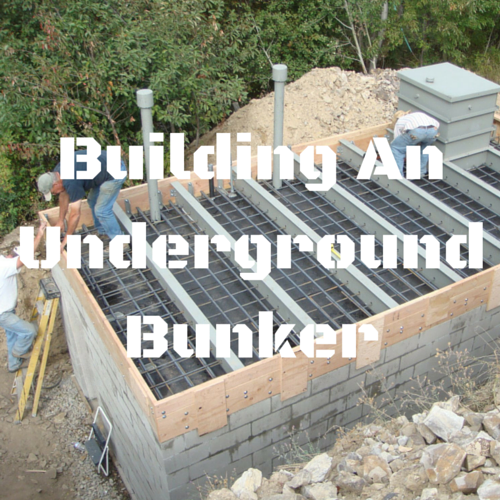 building an underground bunker posted by