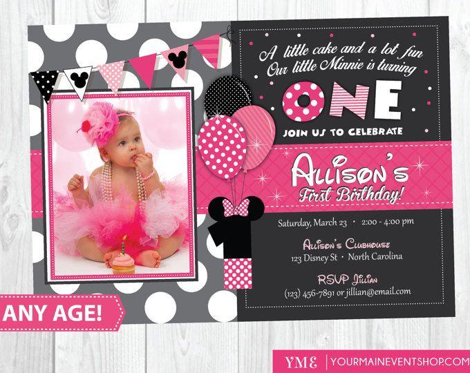 Minnie Mouse 3rd Birthday Invitation Minnie Mouse Birthday – Minnie Mouse 1st Birthday Invites