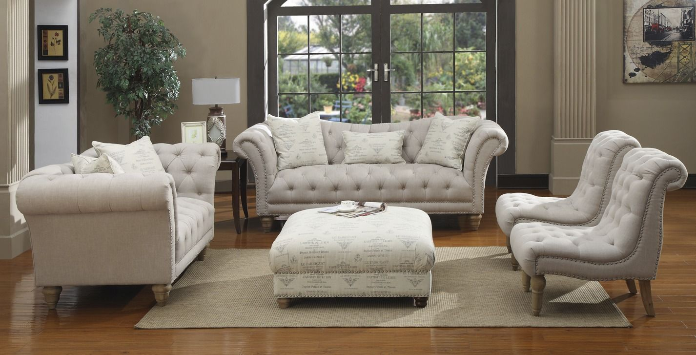 This cozy living room set made by emerald is going for a perfect