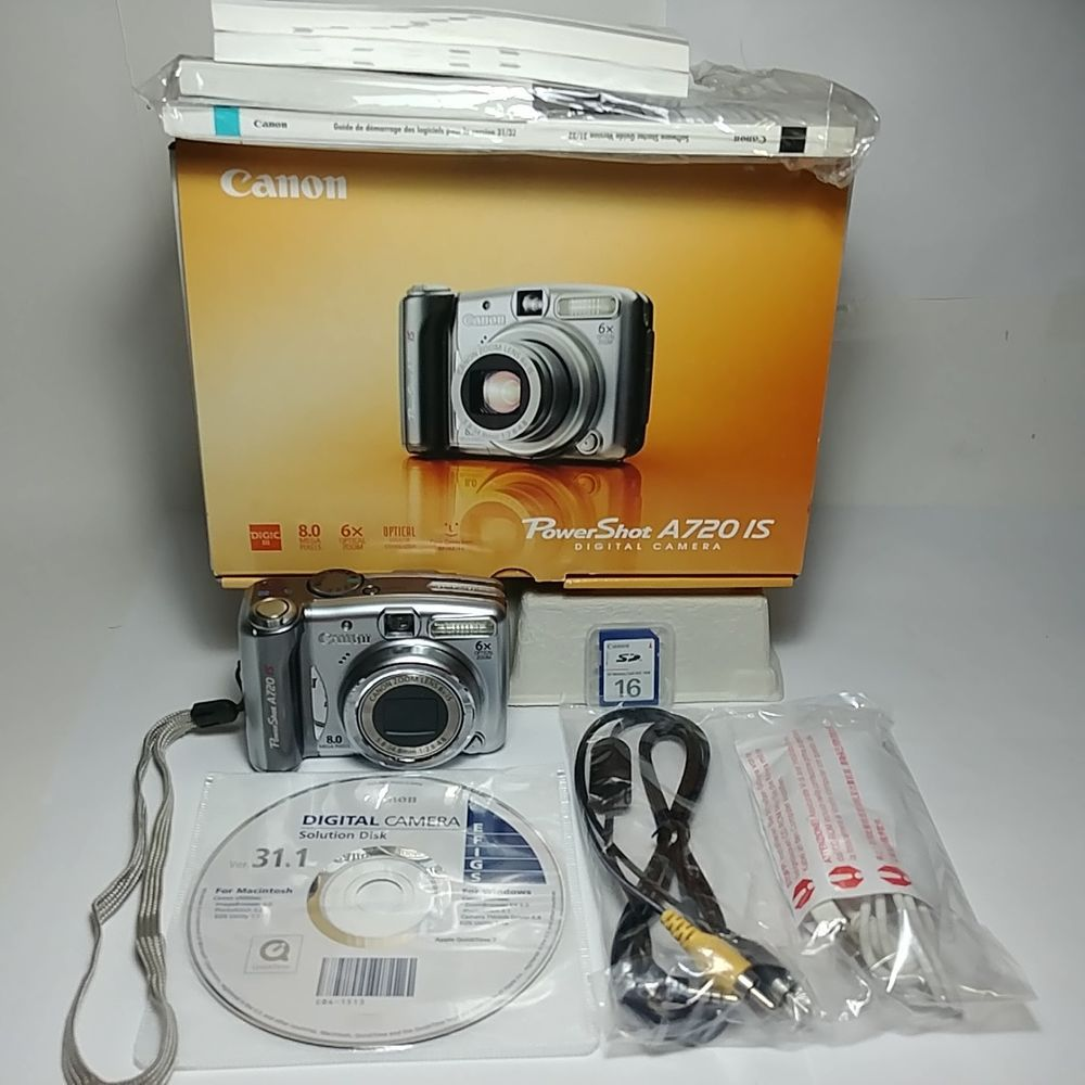 Canon Powershot A720 Is 8 0 Mp Digital Camera 6x Zoom New In Open Box With Accs Canon Digital Camera Powershot Camera