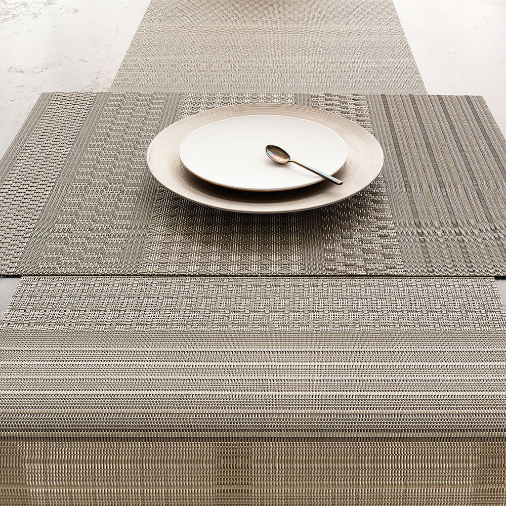 Add A Touch Of Luxury To Your Table Setting With This Mixed Weave Luxe Placemat From Chilewich Made From Woven Vinyl It Combines 13 Different Textures And Has