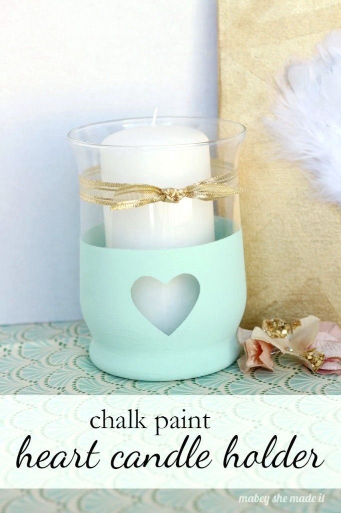 DIY Mint Heart Candle Holder VintageStyleLivingcom Stylish - Cool diy spring candles and candleholders