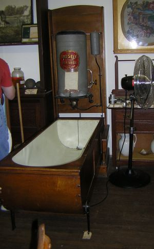 In 1902, this Mosely folding bathtub sold for $28. I\'d never heard ...