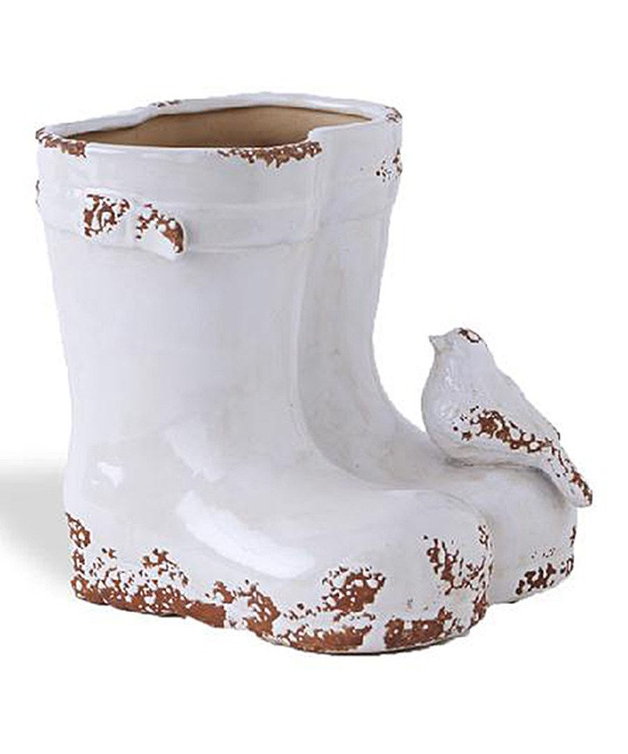 Look at this white ceramic double boot planter on zulily today look at this white ceramic double boot planter on zulily today reviewsmspy