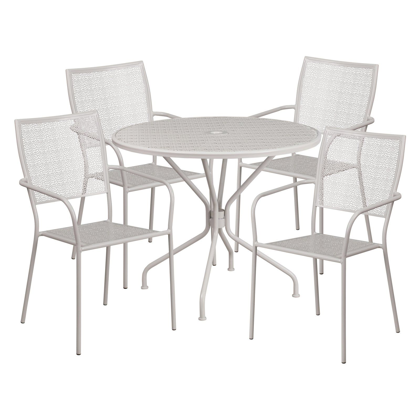 Outdoor Flash Furniture Steel Round Patio Dining Set Patio Table