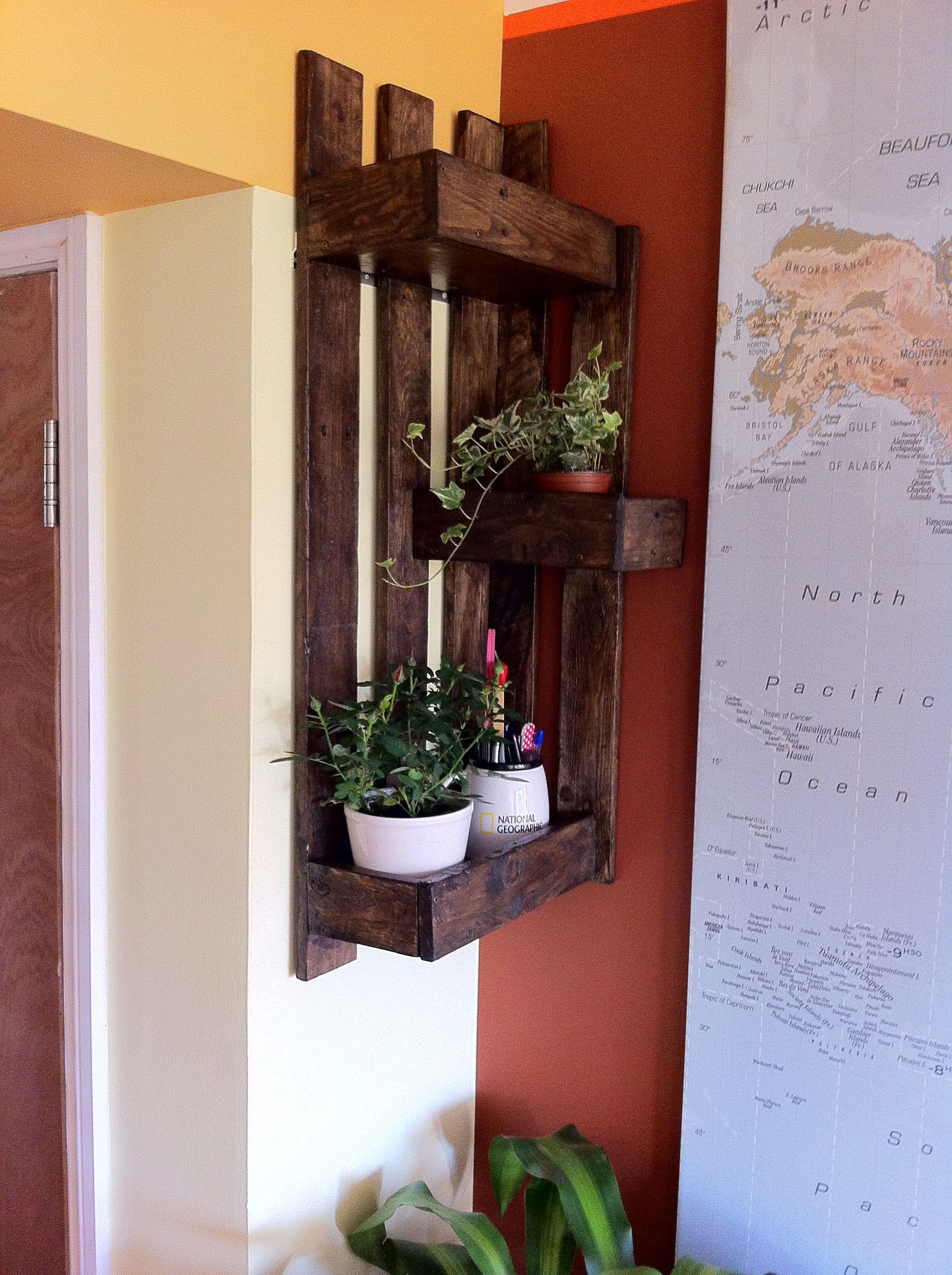 projects idea of corner wall shelving. Corner Pallet Wall Shelf  1001 Pallets wall shelves