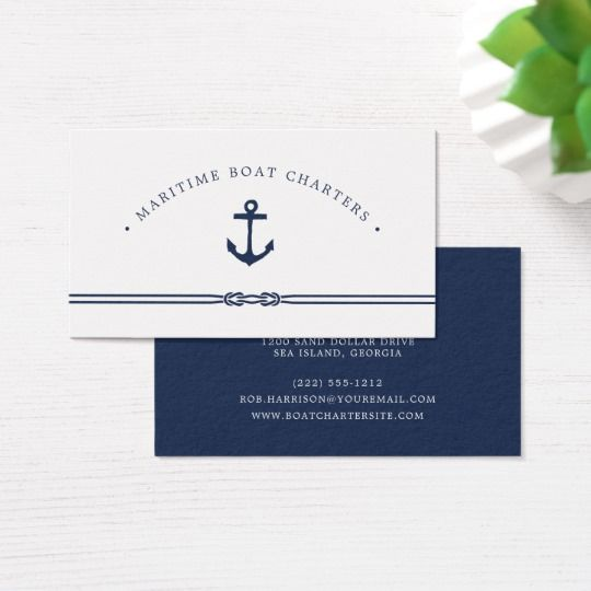 Nautical Rope And Anchor Business Card Perfect For Our Boat Cards Ad Boatcards