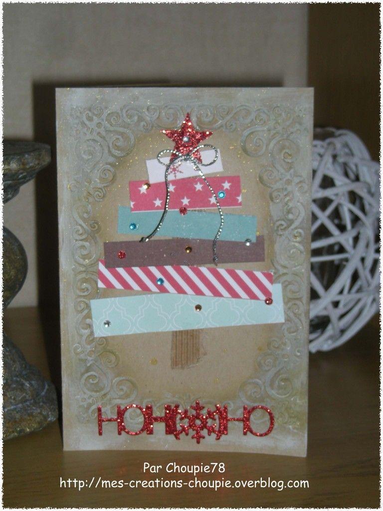 Carte De Noël 3 Mes Cartes Scrap Pinterest