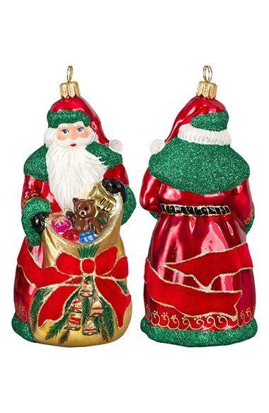 Joy To The World Collectibles Glitterazzi Bratislava Santa Ornament Nordstrom Santa Ornaments Ornaments Christmas Ornaments