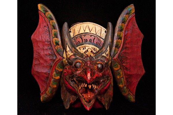 Small Garuda Indonesian Mask, Red by Wayan Gandung | World ...