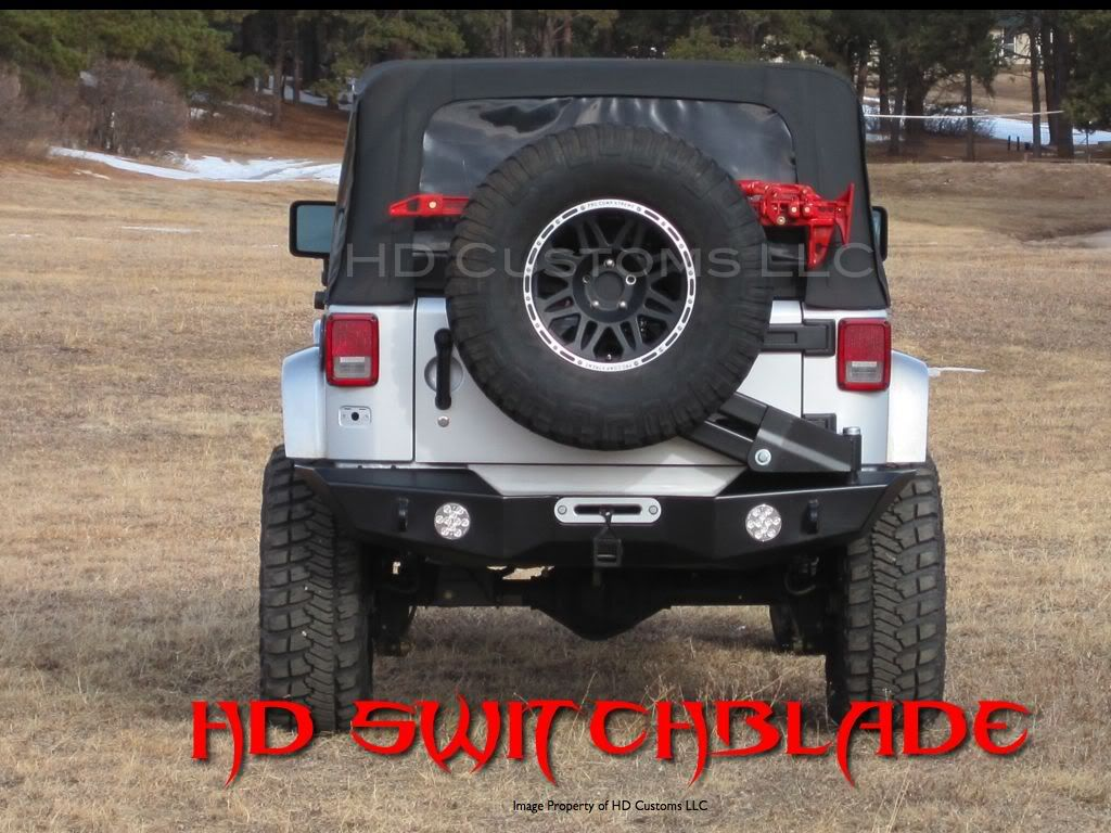 Hd switchblade rear bumper tire carrier jkowners com jeep wrangler jk forum