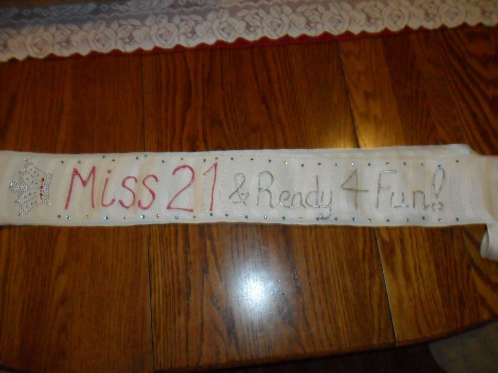 21st Birthday Sash! --- Made for Darcy April 2012 #21stbirthdaysash 21st Birthday Sash! Just use puff paint and a thick ribbon or blanket trimming! #21stbirthdaysash 21st Birthday Sash! --- Made for Darcy April 2012 #21stbirthdaysash 21st Birthday Sash! Just use puff paint and a thick ribbon or blanket trimming! #21stbirthdaysash 21st Birthday Sash! --- Made for Darcy April 2012 #21stbirthdaysash 21st Birthday Sash! Just use puff paint and a thick ribbon or blanket trimming! #21stbirthdaysash 21 #21stbirthdaysash