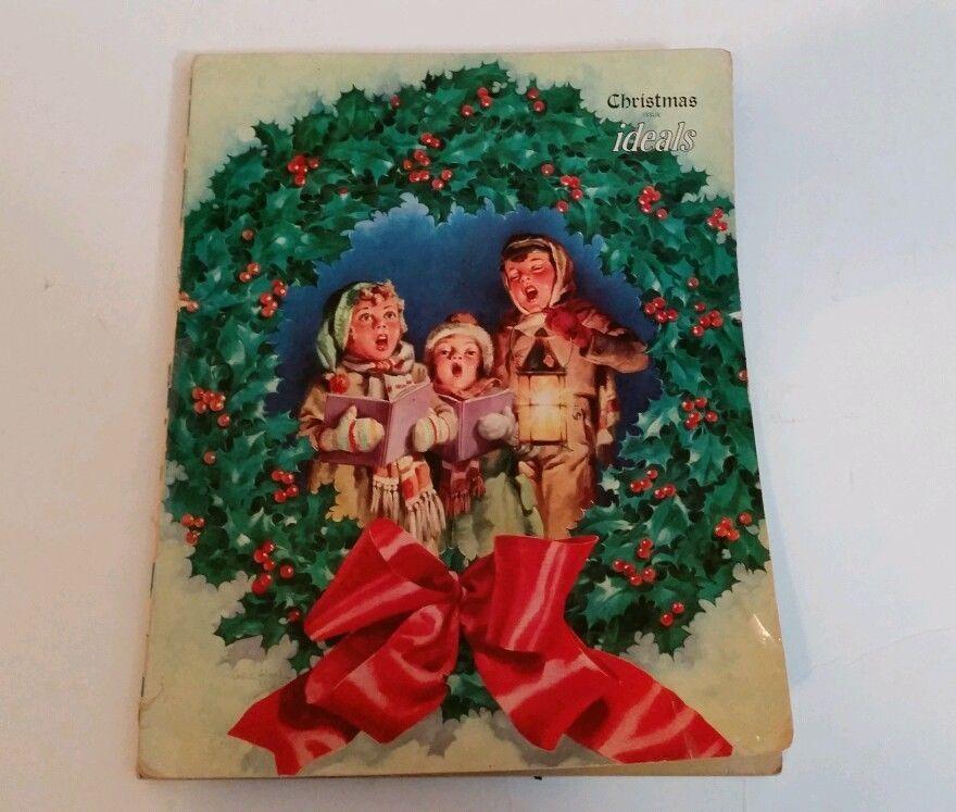 SOLD Vintage 1951 Ideals Christmas George Hinke Art Santa Claus Bible Stories Scottie